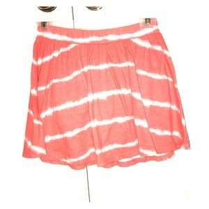 Old Navy Bottoms - Salmon pink and white striped skirt